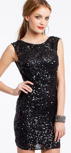 Sequin Short Homecoming Dress #camillelavie