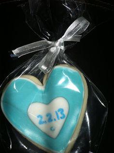 Wedding Cookie Favors /Teal