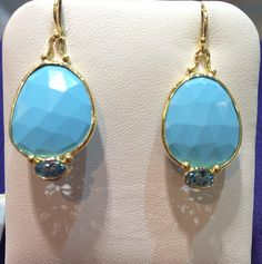 Turquoise and yellow gold is a perfect match! These pretty earrings are available at Becker's, along with a variety of other turquoise rings, earrings, and necklaces!