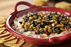 Muffuletta Dip captures the savory flavors of the classic New Orleans' favorite. Serve with WHEAT THINS Crackers.