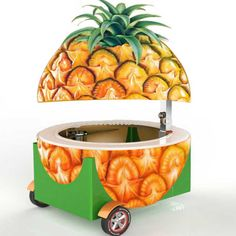 Source Fiberglass Food Pendant Outdoor Beach Pineapple Juice Kiosk for Cold . Food Trailer, Diy Camper Trailer, Automotive Spray Paint, Juice Bar Design, Mobile Food Cart, Food Truck Business, Food Kiosk, Food Tags, Juicing For Health