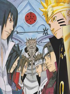 Currently loving my wallpaper #Indra #Ashura #Madara #Hashirama #Sasuke #Naruto #Hagaromo #Kaguya