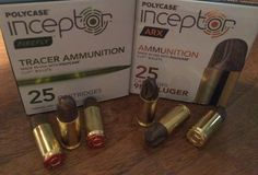 New Bullets from PolyCase Ammunition, New 9mm Firefly tracer ammunition (left) and ARX self-defense ammunition (right)