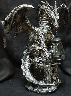 Aqua Dragon on Skull Vessel Stick Incense Burner Medieval Fantasy Inch L Dragon Statue, Dragon Art, Dragon Manga, Dragon Garden, Dragon Head, Magical Creatures, Fantasy Creatures, Dragon Dreaming, Year Of The Dragon