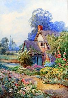 'The Old Cottage' Overgrown With Flowers.
