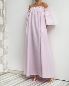 Pink dress, Maxi Dress, Cotton Maxi Dress, Boho Maxi Dress, Summer Maxi Dress, Plus size Maxi Dress, Long Cotton Maxi Dress
