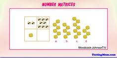 Can your child solve this number matrices practice question from #woodcockjohnsonIV?