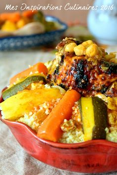 couscous au poulet Algerian Recipes, Algerian Food, Oriental Food, Original Recipe, I Foods, Food Porn, Food And Drink, Cooking Recipes, Morocco