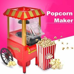 Vintage Retro Electric Popcorn Maker, Popper Machine Home Party Carnival EU Plug. Permit 15 minutes between popping corn for machine to cool so unit does Price Commercial Popcorn Machine, Cool Electronics, Tool Shop, House Party, Popcorn Maker, Home Gifts, Home And Living, Retro Vintage, Electric