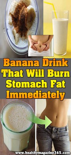A Terrific Banana Drink That Will Burn Stomach Fat Immediately – Diet Recipes Burn Stomach Fat, Lose Belly Fat, Flat Stomach, Flat Belly, Banana Drinks, Banana Tea, Green Banana, Weight Loss Smoothies