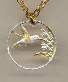 awesome Beautifully Cut out & 2-toned Trinidad & Tobago Hummingbird - coin NecklaceBeautifully Cut out & 2-toned Trinidad & Tobago Hummingbird - coin Necklace Check more at http://christmasshortstory.com/product/beautifully-cut-out-2-toned-trinidad-tobago-hummingbird-coin-necklace/