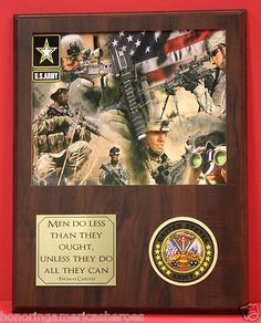 Commemorative United States Army Plaque Inspirational Thomas Carlyle Quote Decor   eBay