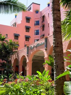 The Pink Palace ~ Royal Hawaiian Hotel in Honolulu on Waikiki Beach.  OAHU