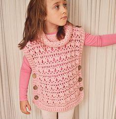 Del ganchillo suéter patrón Poncho de color de por monpetitviolon