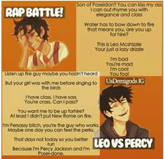 Fandom Rap Battle: Leo vs Percy. Who won?