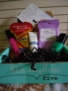 Beautybox 5 August 2014. Everything in here was useful to me and I was excited to have the purlisse and the nanococo lipgloss. I originally gave this box an A but after trying everything I have reduced the grade. Rating: B-.