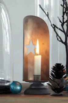 Zinc Star Candle Holder