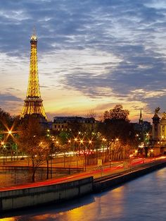 The Eiffel Tower in Paris is one of the world's most iconic landmarks. Go and discover the city of lights.  Discover 82 iconic world landmarks to add to your bucket list. - MatadorNetwork.com
