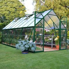 Palram 8 x 16 ft. Balance Hobby Greenhouse HG6116G #greenhouseeffect