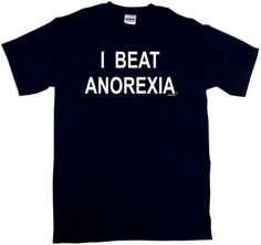 I Beat Anorexia Mens Tee Shirt 5XLBlack -- You can get additional details at the image link. (Note:Amazon affiliate link)