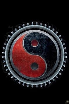 The Harmony symbol. I decided that Gunnison corrupted the yin-yang image for his own purposes, much like Hitler appropriated the swastika (which was once a good luck symbol). Arte Yin Yang, Ying Y Yang, Yin Yang Art, Manado, Tarot, Yin Yang Balance, Chinese Philosophy, Yin Yang Tattoos, Sacred Geometry