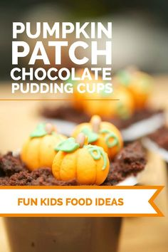 Pumpkin Patch Chocolate Pudding Cups #ReadySetSnack - Spaceships and Laser Beams