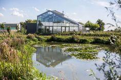 Voor de kaswoning van Ron van der Burg ligt een meertje dat bij de Poelzone…