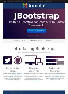 JBootstrap: Twitter's Bootstrap for Joomla  JBootstrap is a solution to combine Joomla and Bootstrap in a full template. To help us in the backend management, we have also integrated in the powerfull RocketTheme Gantry framework, as platform to build the theme.