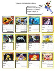 Pokemon missing numbers (editable)