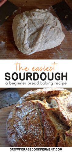 The Easiest No Knead Sourdough Bread,You won't believe how easy it is to make your own homemade sourdough bread with this no knead recipe! Using a homemade sourdough starter, and a few si. Dutch Oven Sourdough Bread Recipe, Sourdough Bread Starter, Dutch Oven Bread, Recipe Breadmaker, Dutch Ovens, Sour Bread Recipe, Simple Bread Recipe, Bread Maker Recipes, Easy Bread Recipes