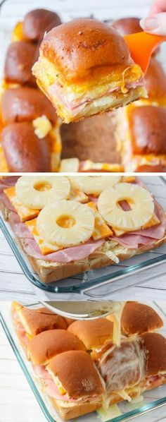 Hawaiian Sliders ~ rich,cheesy,and easy to make!The perfect game day party appetizer!
