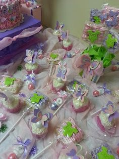Aleisha Davis Designs ~Butterfly Baby Shower Cake and Favors Table