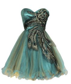 88e0813ea7c 2014 Hot Selling Organza Embroidery Sweetheart Peacock by WowDress