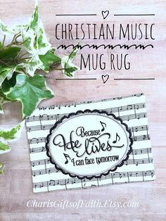 Christian Songs, Christian Gifts, Gift Of Faith, Because He Lives, Musician Gifts, Worship Leader, Embroidered Gifts, Gift For Music Lover, Decorative Towels