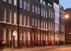 Gower Street frontages, south of Keppel Street, London