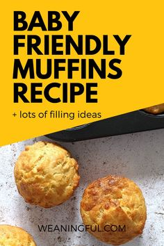 This baby friendly muffins recipe is sugar free and makes a great breakfast, lunch, dinner or snack on the go. Little ones will love to discover a new filling everytime, whether it's blueberries, zucchini, banana or pumpkin. It's great for starting solids and the baby led weaning approach too! Healthy Baby Food, Healthy Muffin Recipes, Healthy Meals For Kids, Baby Food Recipes, Baby Meals, Kid Meals, Meals For One, Baby First Foods, Baby Finger Foods