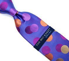 Steven Land Big Polka Dot Multi Color Big Knot Neck Tie - Suit Yourself Menswear & Custom Apparel