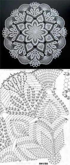 Online Knitting and Crochet Pattern Software. Knitinspire is a pattern drafting software that allows you to create patterns for both crochet and knitting. Filet Crochet, Mandala Au Crochet, Beau Crochet, Free Crochet Doily Patterns, Crochet Doily Diagram, Thread Crochet, Crochet Motif, Crochet Designs, Crochet Crafts