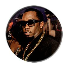 ONLY ONE Sean Combs Puff Daddy 2-1/4 Inch Button