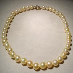 Cultured Pearl Necklace, Cultured Pearls, South Seas, Natural Glow, Ruby Lane, Vintage Jewelry, Shops, Diamond, Jewels
