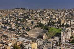 The ancient Roman Theatre in the heart of downtown Amman