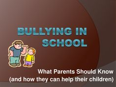 bullying at school what we know Your child is being bullied at school he or she has mustered the courage to tell you about it -- no small feat, considering how humiliating it can be for confident, however, that you have taken all of the right steps to manage the problem independently and knowing that the bullying (and your child's.