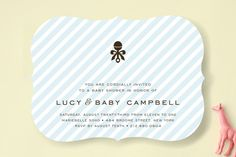 Petite Rattle Baby Shower Invitations by robin ott design at minted.com