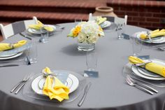 Lovely Yellow and Grey Bridal Shower » Kayden Ashley