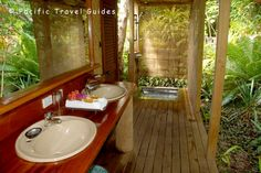 Fafa Island Resort Tonga | Fafa Island Resort Honeymoon Fale (SO looking forward to our vacay!!! outdoor bathroom whaaat)