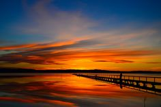 A beautiful long jetty, perfectly still water, and the most amazing sunset..   What more could one have asked for? :)