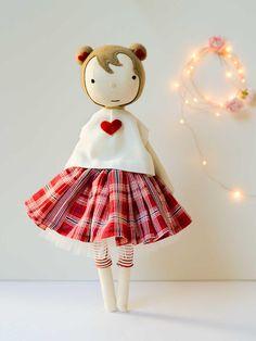 Handmade Ragdoll Soft Toy Miss Amelie Poppet