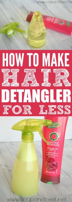 Try this easy DIY Hair Detangler - How to make Detangler Spray with only 2 ingredients!