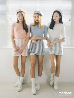 Fashion ideas on korean fashion outfits 966 Korea Fashion, Kpop Fashion, Kawaii Fashion, Asian Fashion, Girl Fashion, Fashion Looks, Fashion Outfits, Fashion Design, Fashion Trends
