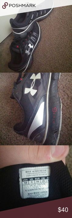 Under armour micro G running shoes Worn 2 times just not my style size 10 Under Armour Shoes Athletic Shoes